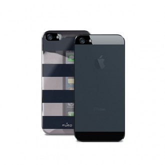 Coque Puro rayures noires pour Apple iPhone 5/5S