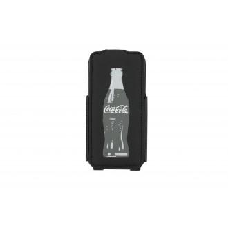 Etui Flip Coca-Cola grey Bottle pour Apple iPhone 5