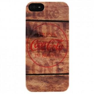 Coque Coca-Cola motif bois pour Apple iPhone 5/5S