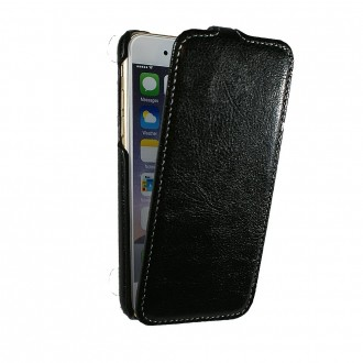 Etui UltraSlim simili cuir noir nappa pour iPhone 6
