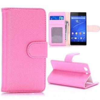 Etui Sony Xperia Z3 Mini Simili-cuir rose