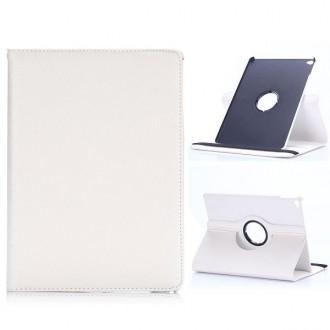 Etui iPad Air 2 Rotatif 360° Simili-cuir Blanc