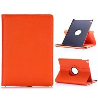 Etui iPad Air 2 Rotatif 360° Simili-cuir Orange