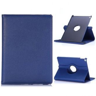 Etui iPad Air 2 Rotatif 360° Simili-cuir Bleu Nuit