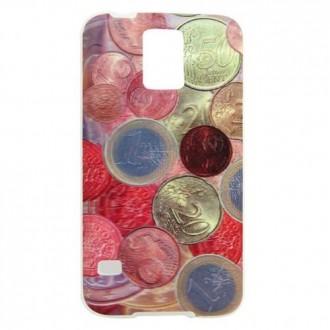 Coque Galaxy S5 effet 3D motif pièces euro