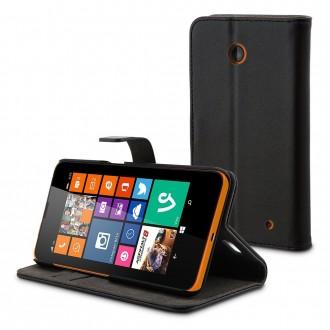 Etui Folio Nokia Lumia 630 / 635 Similicuir noir
