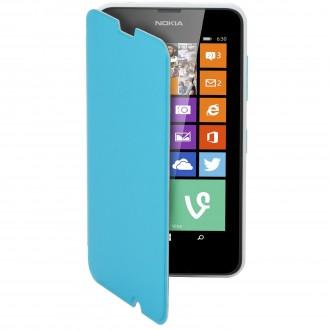 Etui Nokia Lumia 630 Mozo Simili-cuir bleu