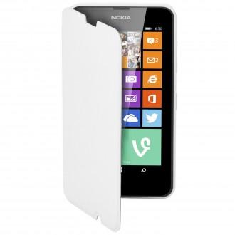Etui Nokia Lumia 630 Mozo Simili-cuir blanc