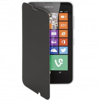 Etui Nokia Lumia 630 Mozo Simili-cuir noir