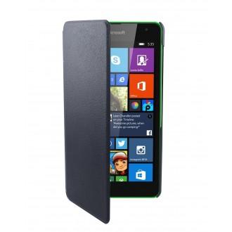 Etui Nokia Lumia 535 Swiss Charger simili-cuir noir
