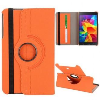 Etui Galaxy Tab 4 8.0 Rotatif 360° Simili-cuir Orange