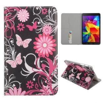 Etui Galaxy Tab 4 8,0 motif Papillons et Fleurs