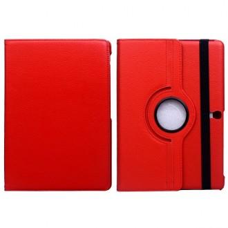 Etui Galaxy Tab S 10.5 Rotatif 360° Simili-cuir Rouge