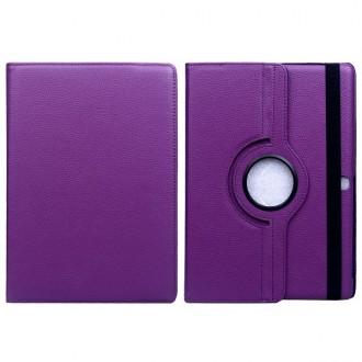 Etui Galaxy Tab S 10.5 Rotatif 360° Simili-cuir Violet