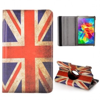 Etui Galaxy Tab S 8.4 Rotatif 360° Drapeau UK