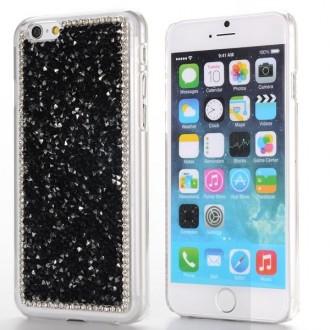 Coque iPhone 6 strass Noirs et Blancs