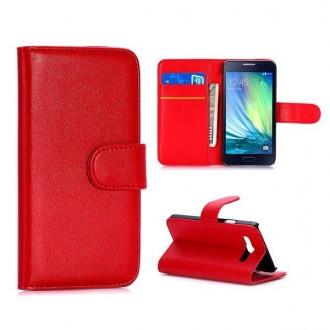 Etui Galaxy A3 Simili-cuir Rouge