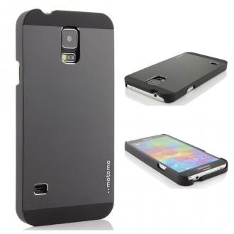 Coque plastique rigide + film pour Samsung Galaxy S5 i9600 noir