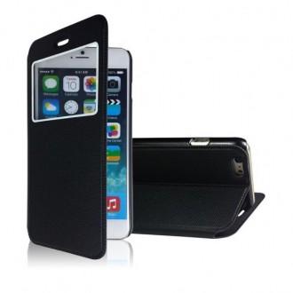 Etui iPhone 6 noir fermeture aimantée