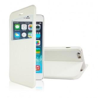Etui iPhone 6 Blanc fermeture aimantée