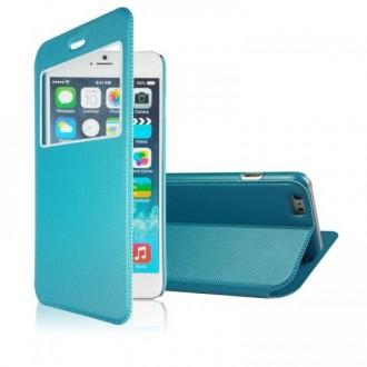 Etui iPhone 6 Bleu fermeture aimantée