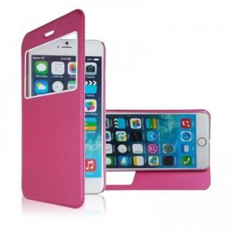 Etui iPhone 6 Rose fermeture aimantée
