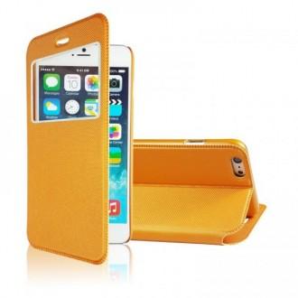 Etui iPhone 6 Orange fermeture aimantée