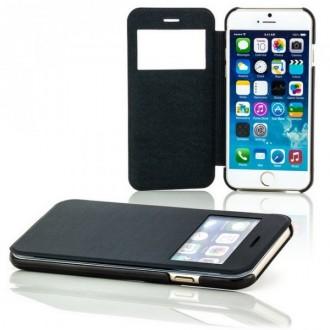 Etui flip iPhone 6 Plus Noir