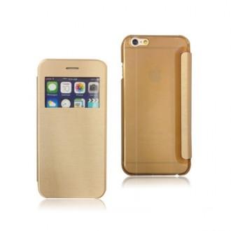 Etui flip iPhone 6 Plus Doré