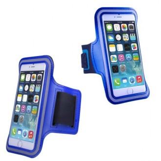 Brassard sport iPhone 6 Pus Néoprène Bleu