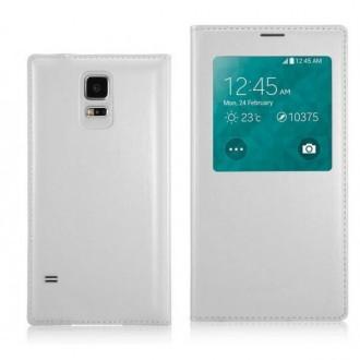 Etui flip cover S-View argent pour Samsung Galaxy S5 mini + film + câble + sylet