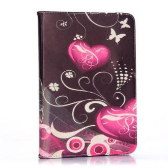 Etui Galaxy Tab 4 10.1 motif Coeurs et Papillons