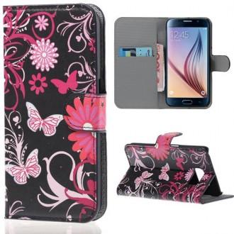 Etui Galaxy S6 Motif Papillons et Fleurs