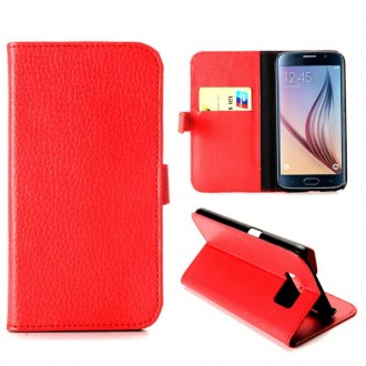 Etui Galaxy S6 Simili-cuir Rouge