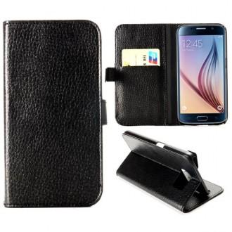 Etui Galaxy S6 Simili-cuir Noir