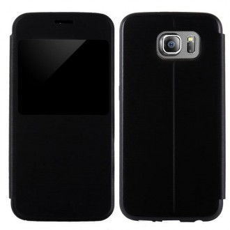 Etui Galaxy S6 Noir avec fenêtre de visualisation
