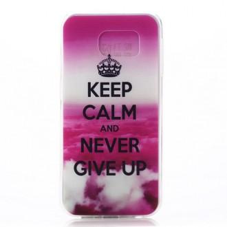 Coque Galaxy S6 motif Keep Calm rose