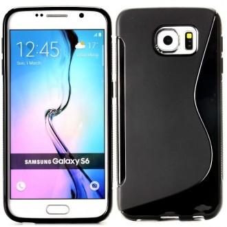 Coque Galaxy S6 Noire matte et brillante