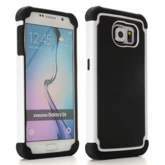 Coque Galaxy S6 Anti-choc Noire et Blanche