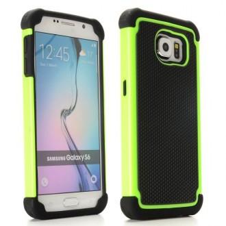 Coque Galaxy S6 Anti-choc Noire et Verte