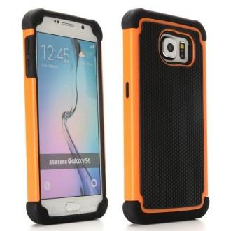 Coque Galaxy S6 Anti-choc Noire et Orange