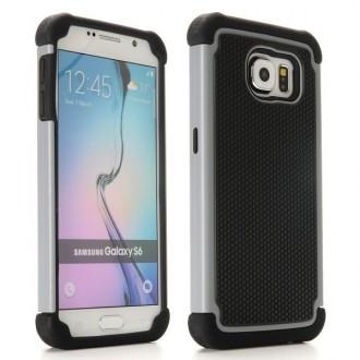 Coque Galaxy S6 Anti-choc Noire et Grise