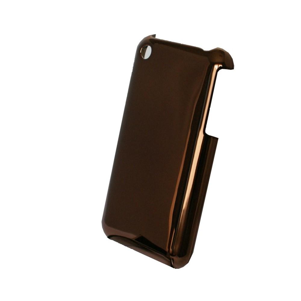 Coque plastique marron et effet miroir for Effet miroir photo iphone