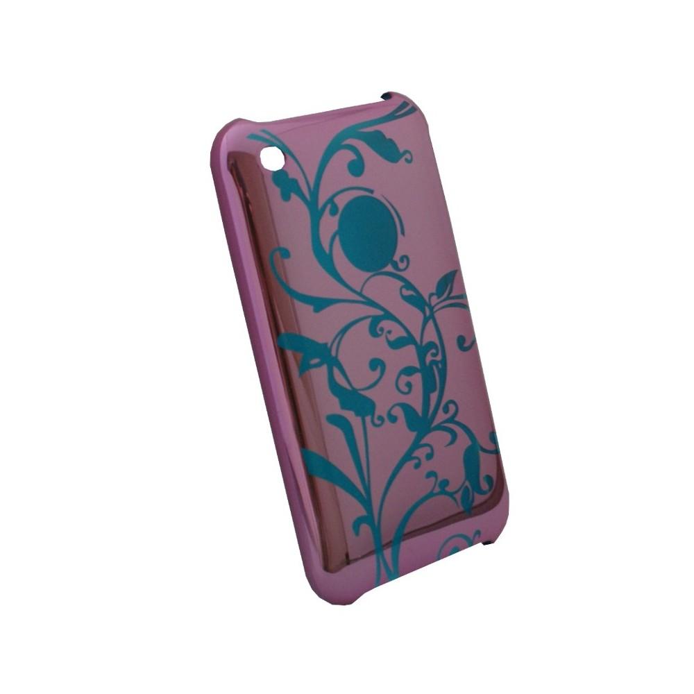 Coque plastique rose effet miroir for Effet miroir photo iphone