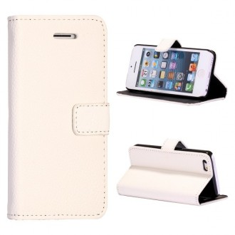 Etui iPhone 5C Simili-cuir Blanc