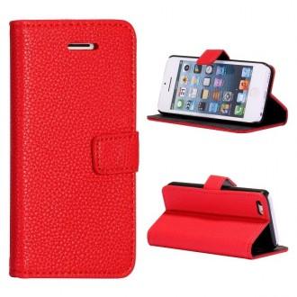 Etui iPhone 5C Simili-cuir Rouge