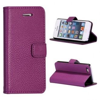 Etui iPhone 5C Simili-cuir Violet
