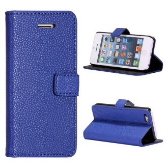 Etui iPhone 5C Simili-cuir Bleu nuit