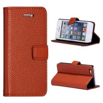 Etui iPhone 5C Simili-cuir Marron