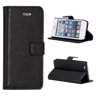 Etui iPhone 5C Simili-cuir Noir